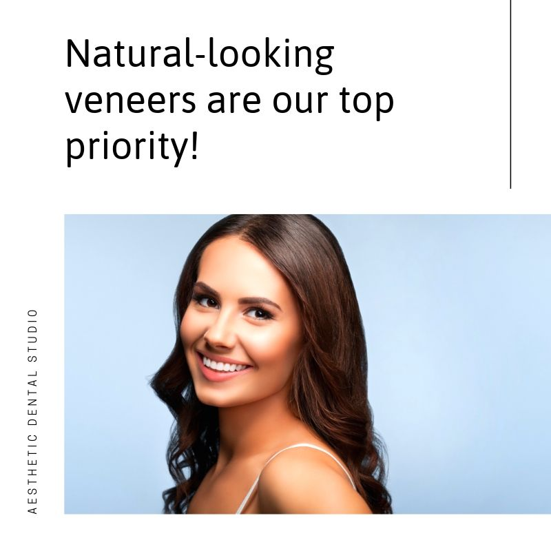 Natural-looking veneers at Aesthetic Dental Studio